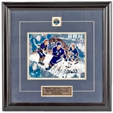 Buffalo Sabres French Connection Autographed and Framed 8x10 Collage Photo