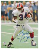 Thurman Thomas Autographed Buffalo Bills White Jersey 8x10 Football Photo