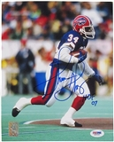 Thurman Thomas Autographed Buffalo Bills 8x10 Football Photo PSA