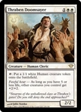 Magic the Gathering Dark Ascension Single Thraben Doomsayer FOIL