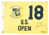 Tiger Woods Autographed U.S. Open Pebble Beach Pin Flag #180/500 (Upper Deck)