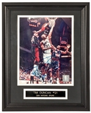 Tim Duncan Autographed San Antonio Spurs Framed 8x10 Photo (Field of Dreams)