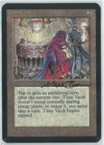 Magic the Gathering Alpha Single Time Vault - NEAR MINT (NM) Artist Signed!