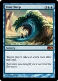 Magic the Gathering 2010 Single Time Warp - SLIGHT PLAY (SP)