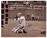 Y.A. Tittle Autographed New York Giants Football 16x20 Photo