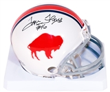 Tom Flores Autographed Buffalo Bills Football Mini Helmet