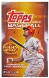 2012 Topps Series 2 Baseball Hobby Box