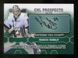 2012/13 In the Game Between The Pipes Autographs #AFT Francois Tremblay Autograph