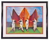 """Triple Crown Winners"" Autographed 20X24 Framed (Mantle/Williams/Robinson/Yaz) (JSA)"