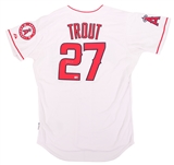 Mike Trout Autographed Los Angeles Angels White Majestic Jersey (MLB Authenticated)