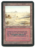 Magic the Gathering Alpha Single Badlands - MODERATE PLAY (MP)