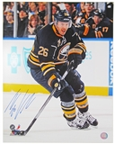 Thomas Vanek Autographed Buffalo Sabres Blue Jersey 16x20 Hockey Photo