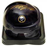 Thomas Vanek Autographed Buffalo Sabres Blue Mini Hockey Helmet
