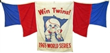 Minnesota Twins 1965 World Series Stadium Banner