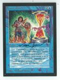 Magic the Gathering Beta Artist Proof Timetwister - SIGNED BY MARK TEDIN