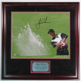 "Tiger Woods Autographed and Framed ""Sand Trap"" 16x20 Golf Photo"