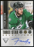 2013-14 Panini Titanium Three Star Selections Autographs #3STS Tyler Seguin 22/50