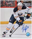 Tyler Myers Autographed Buffalo Sabres White Jersey 8x10 Hockey Photo