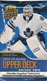2014/15 Upper Deck Series 2 Hockey Retail Pack (Lot of 24)