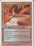 Magic the Gathering 6th Edition Single Underground River LIGHT PLAY (NM)