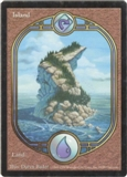 Magic the Gathering Unglued Single Island  (LAND) - SLIGHT PLAY (SP)