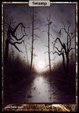 Magic the Gathering Unhinged Single Swamp - SLIGHT PLAY (SP)