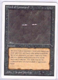 Magic the Gathering Unlimited Single Word of Command UNPLAYED (NM/MT)