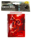 Ultra Pro Red and Purple Skull Deck Box by Brom