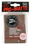 Ultra Pro Brown Pro-Matte Deck Protectors (50 count pack)