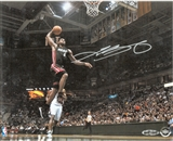 "LeBron James Autographed Miami Heat ""Lift Off"" 8x10 (UDA)"