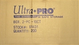 Ultra Pro 10 Count Plastic Box 2-Piece (200 Count Case)