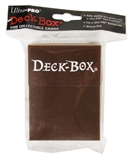 Ultra Pro Brown Deck Box (Holds 75+ cards)