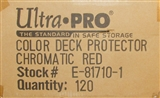 Ultra Pro Chromatic Red Deck Protectors Case - 120 Packs