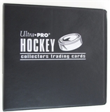 "Ultra Pro 3"""" Black Hockey Card Collectors Album"