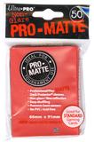 Ultra Pro Red Pro-Matte Deck Protectors (50 count pack)