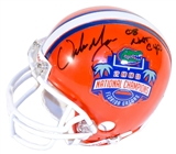 Urban Meyer Autographed Florida Gators Mini Football Helmet w/ Nat Champs inscrip