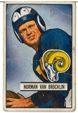1951 Bowman Football Starter Set 83 Cards (Van Brocklin, Baugh, Tittle)
