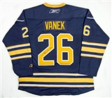 Thomas Vanek Autographed Buffalo Sabres Blue Hockey Jersey (Home)