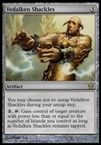Magic the Gathering Fifth Dawn Single Vedalken Shackles - MODERATE PLAY (MP)