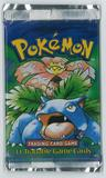 Pokemon Base Set 1 FIRST EDITION Booster Pack - Venusaur Art - UNSEARCHED