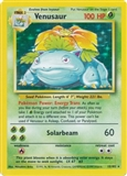 Pokemon Base Set 1 Single Venusaur 15/102 - MODERATE PLAY (MP)