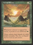 Magic the Gathering Urza's Saga Single Vernal Bloom - SLIGHT PLAY (SP)