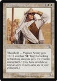 Magic the Gathering Judgment Single Vigilant Sentry FOIL