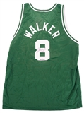 Antoine Walker Autographed Boston Celtics Champion Jersey #4/250 (Fleer COA)