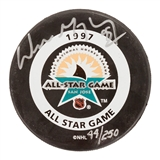 Wayne Gretzky Autographed New York Rangers 1997 All-Star Game Official Puck (UDA)