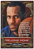 "2014 Upper Deck LeBron James ""Welcome Home"" NSCC Cleveland Promo Card"