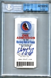 Wayne Gretzky Autographed Hockey Hall of Fame Ticket Stub (Beckett Authenticated)
