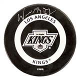 Wayne Gretzky Autographed Los Angeles Kings Official Puck (UDA)