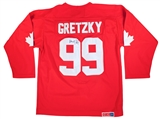 Wayne Gretzky Autographed Team Canada 1987 Canada Cup CCM Jersey With Fight Strap (JSA)