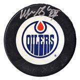 Wayne Gretzky Autographed Edmonton Oilers Official Game Puck (WGA)
